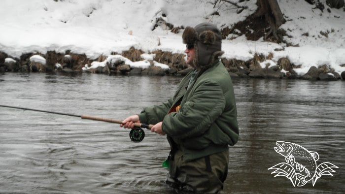 stay warm winter fly fishing