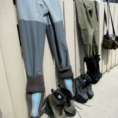 dry waders after fly fishing