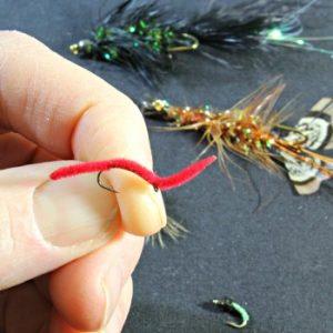 San Juan Worm for fly fishing in Idaho