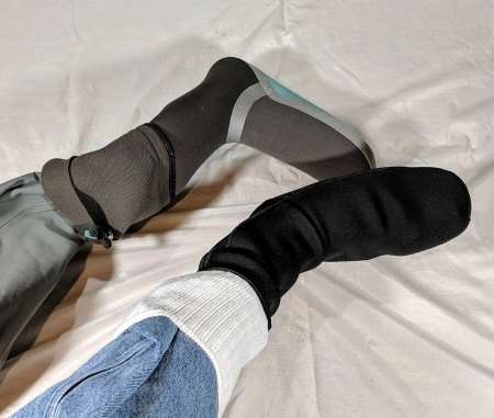 cut wader boot for wet wading