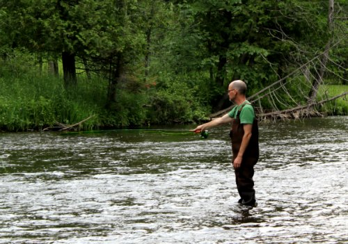 fly fishing pine river Wisconsin