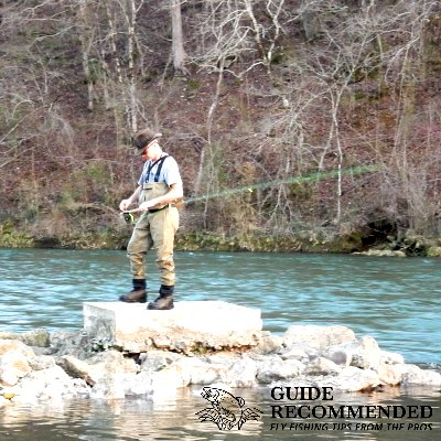 fly fishing the Norfolk R in Arkansas