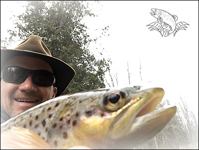 fly fishing the moosup river for brown trout