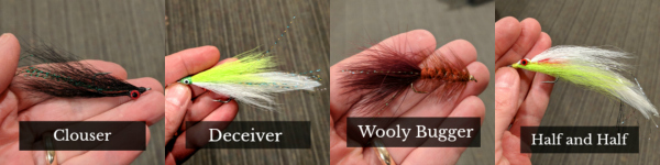 Streamers for Fly Fishing Deceiver Clouser Wooly Bugger Half and Half