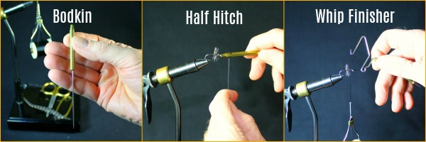 Fly Tying - Bodkin, Half Hitch and Whip Finisher