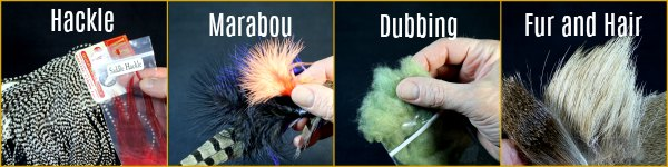 Fly Tying Materials - Hackle, Marabou, Pheasant Tail, Fur and Hair