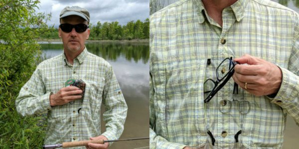 Fly Fishing Shirt Chest Pockets