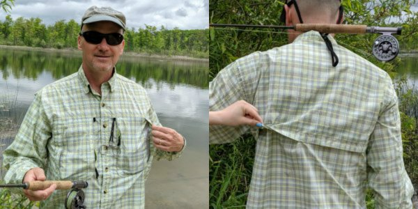Fly Fishing Shirt Vents-front and back