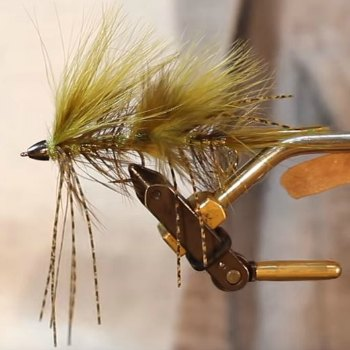 Galloups Peanut Envy Fly Amazing action catches smallmouth bass