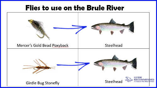 Flies to use on the Brule River, Wisconsin