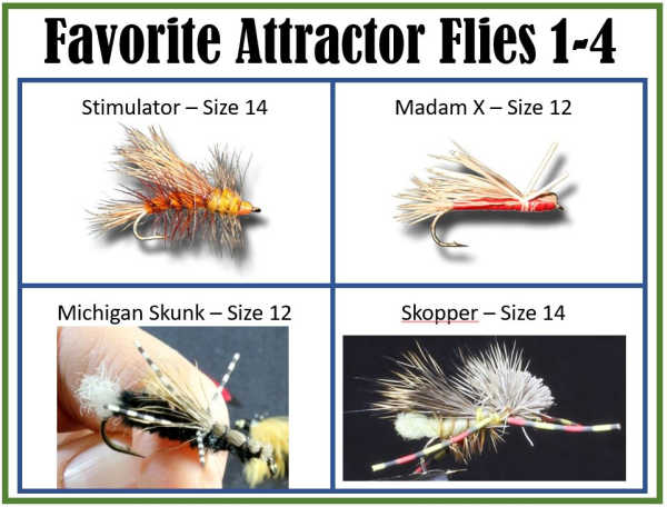 Attractor Flies 1 - 4