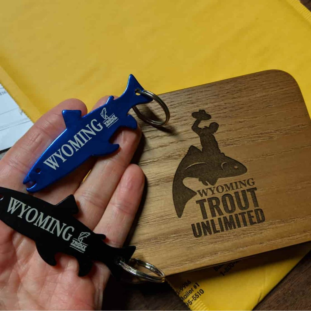 Wyoming Trout Unlimited Fly Box and Key Chains