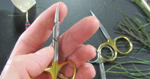 Fly Tying Scissors with Curved Blades