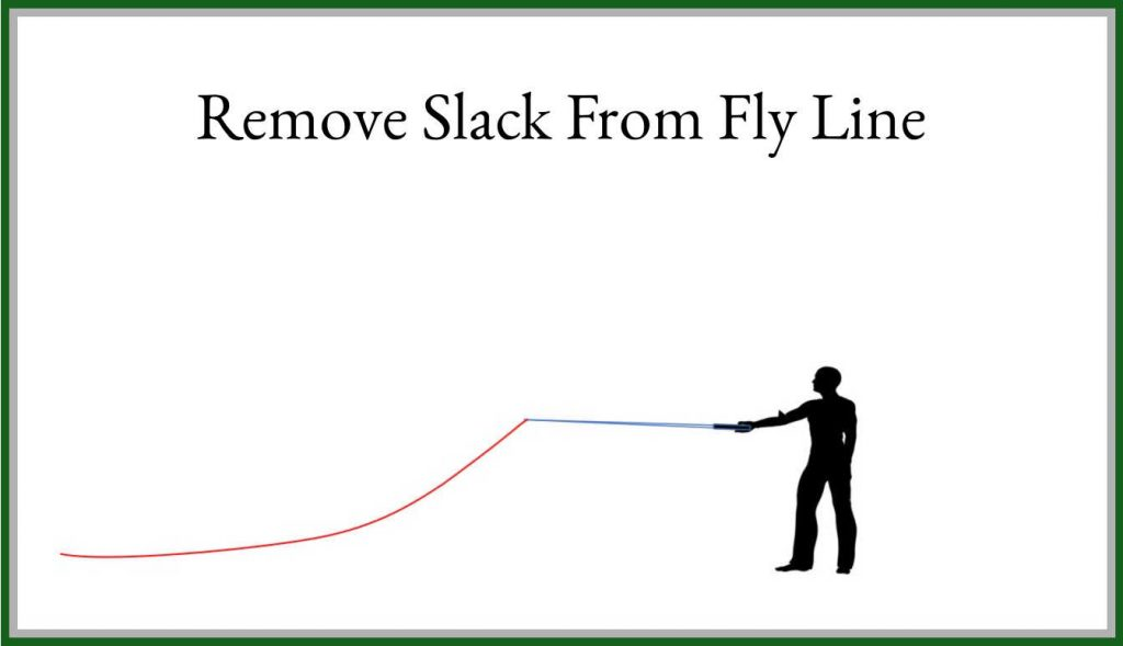 Step 2 Remove Slack From Fly Line
