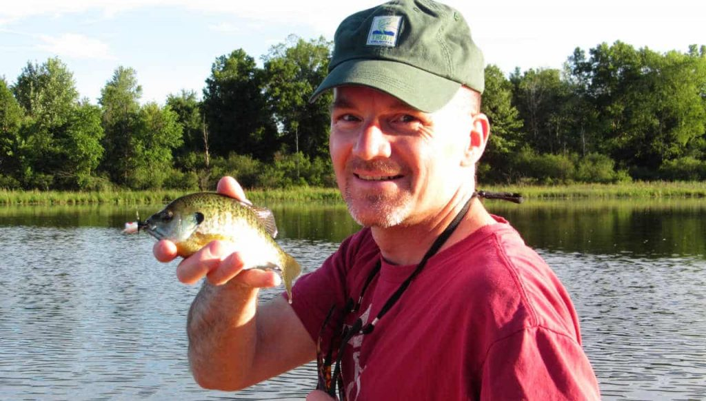 Floating in a Canoe Fly Fishing for Summertime Blues